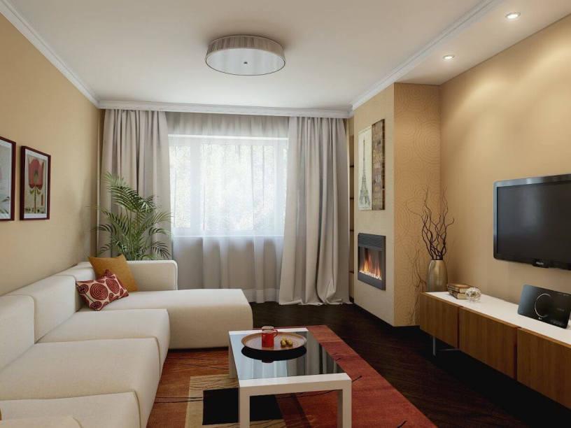 Дизайн гостиной 20 м²